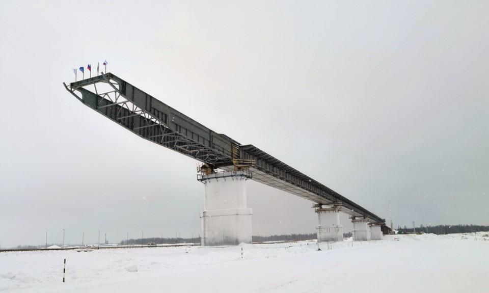 Пуровский мост - готовность 60 процентов. Фото: www.yanao.ru