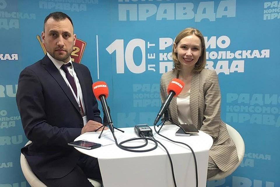 Начальник отдела по управлению брендами центрального дивизиона Группы Продо Таисия Морозова в Открытой студии Радио «Комсомольская правда».