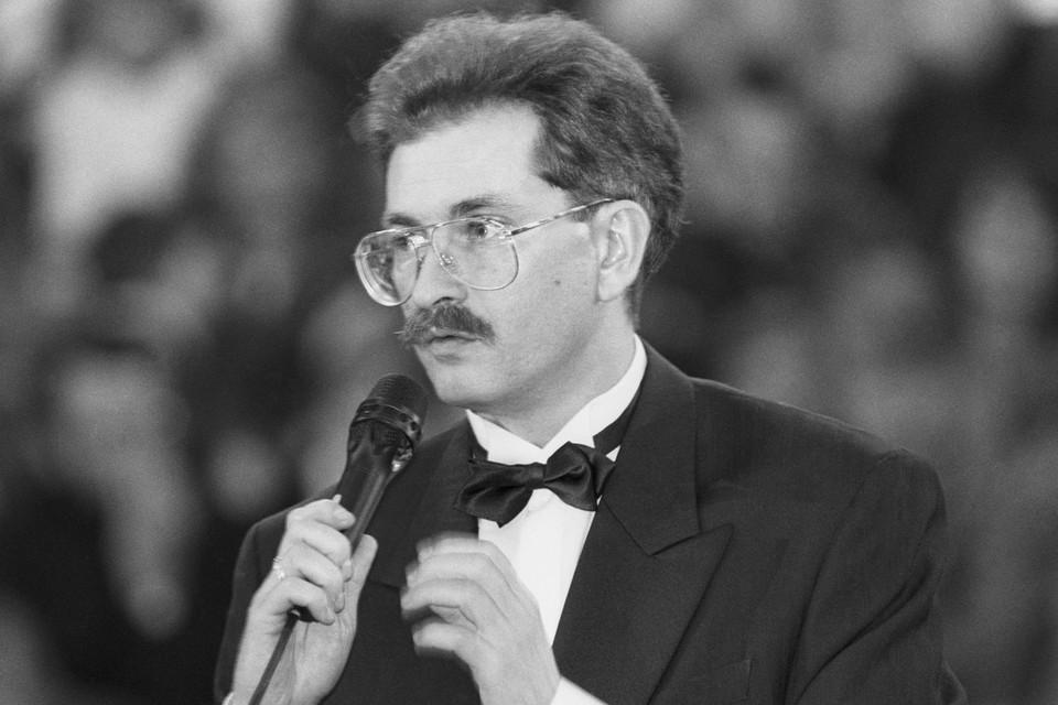 Журналист Влад Листьев в 1992 году. Фото Николая Малышева (ИТАР-ТАСС)