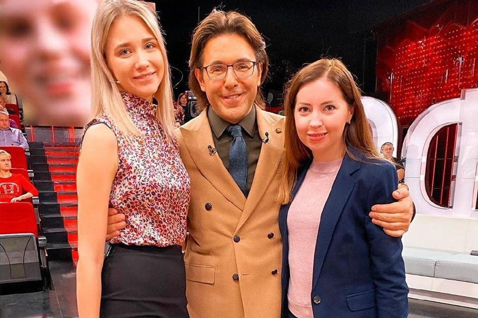 Екатерина Диденко (справа) в студии у Андрея Малахова