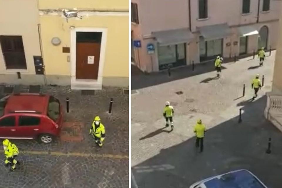 Кадры из итальянского города Дезенцано напоминают фильм-катастрофу.