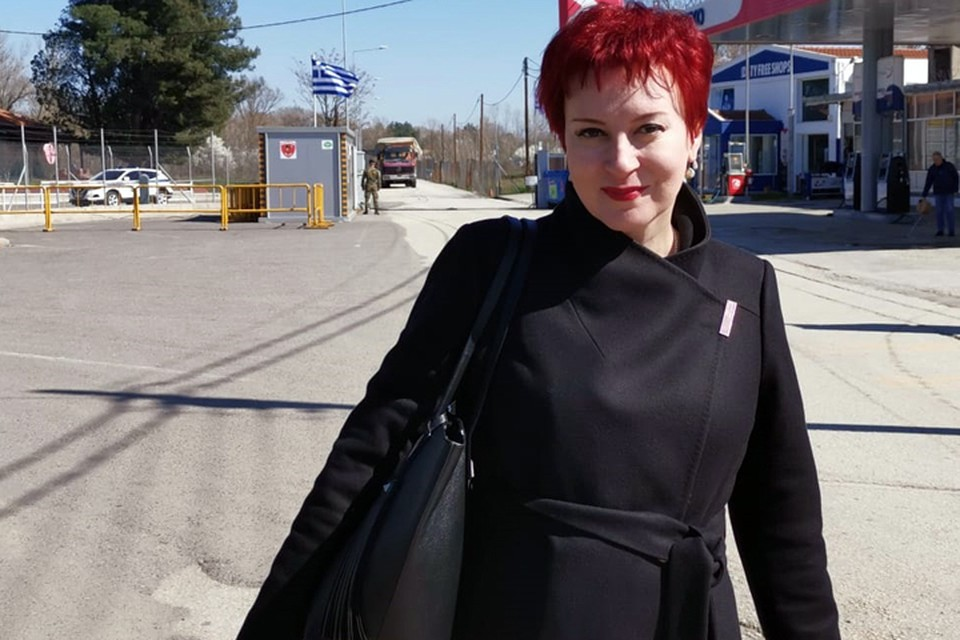 Дарья Асламова в Кастаниес на закрытой греко-турецкой границе