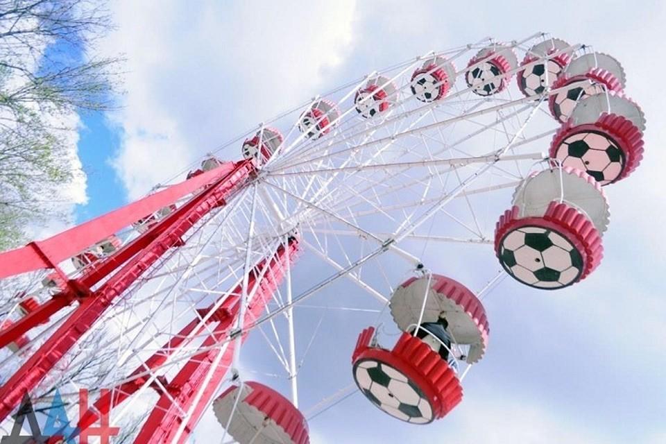 Высота колеса обозрения в парке Щербакова была около 27 метров. Фото: dan-news.info