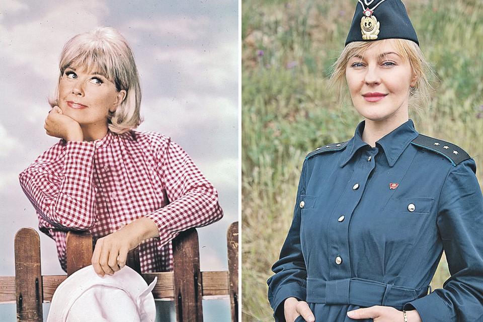Согласитесь, актриса Яна Крайнова (справа) похожа на звезду голливудских комедий 50-х Дорис Дей. Фото: ZUMAPRESS.com, Кадр из фильма