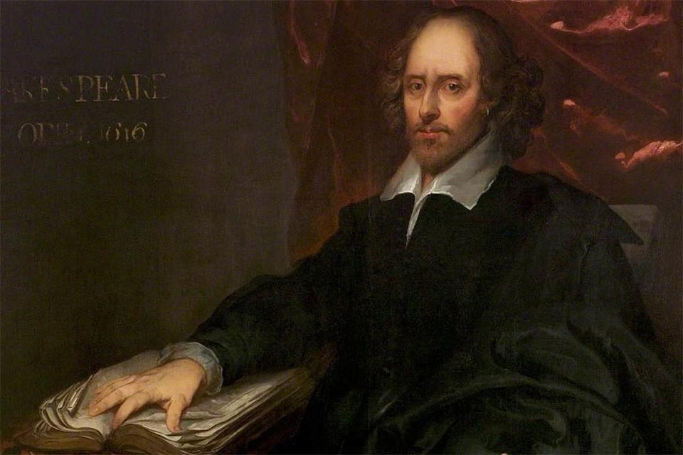 Уильям Шекспир в исполнении художника Питера Борсселлера.