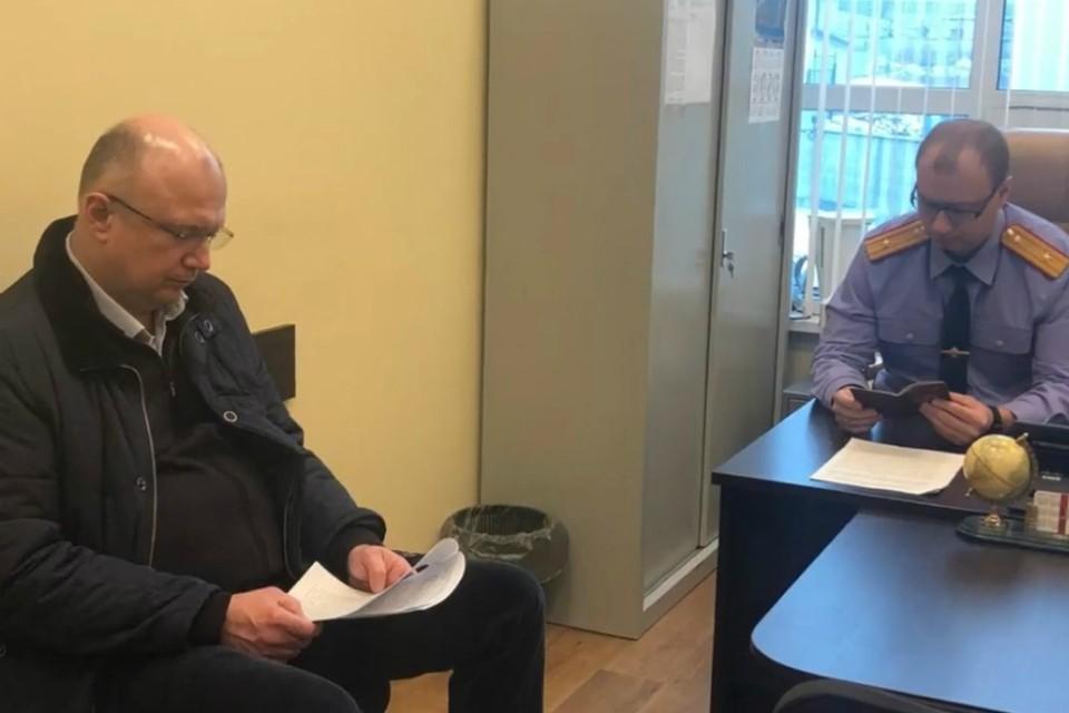 Региональный Следком завел уголовное дело на вице-губернатора. Фото: скриншот с видео СУ СКР по Кировской области