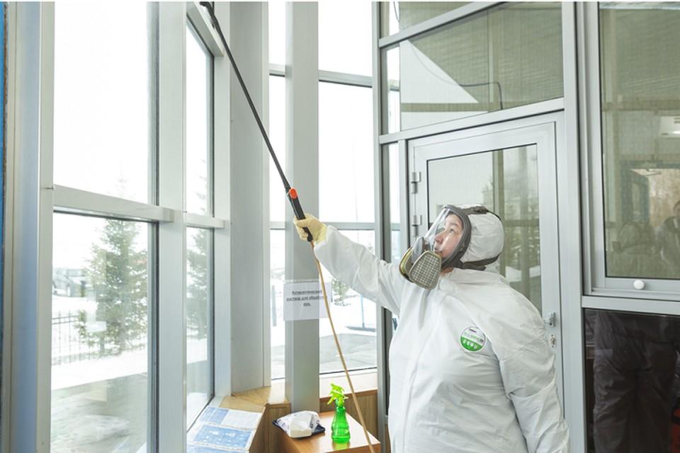 На Ямале предприятия, обслуживающие самоизолированных, проводят дезинфекцию Фото: yanao.ru