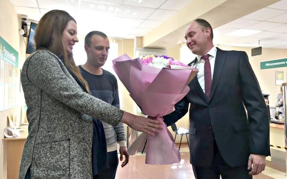 Екатерина Горланова с мужем стали первыми получателями сельской ипотеки в Псковской области.
