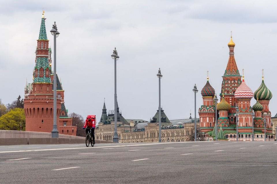 Москва опустела в период самоизоляции