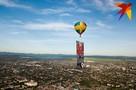 На Кубани в память о героях войны запустили в небо воздушный шар с символами Победы