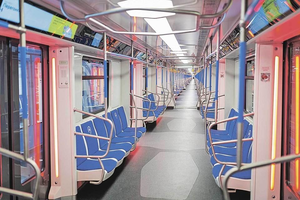Самый современный поезд столичной подземки. Фото: Предоставлено Московским метрополитеном.