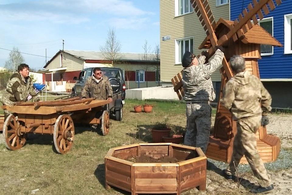 В Ханымее после снятия карантина приступили к благоустройству Фото: Администрация Пуровского района
