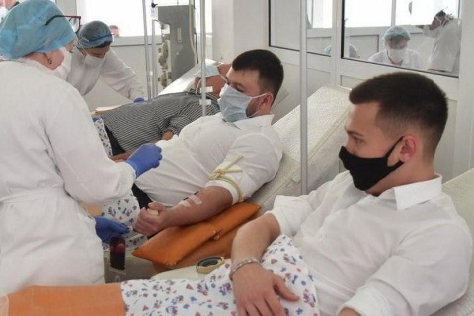Пушилин призвал жителей пополнять банк крови на случай эскалации напряженности на фронте. Фото: glavadnr.ru
