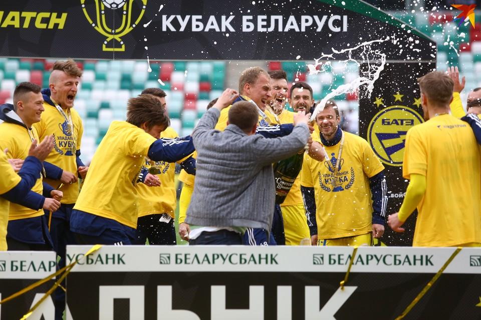 БАТЭ с Кубком Беларуси сезона 2019/2020.