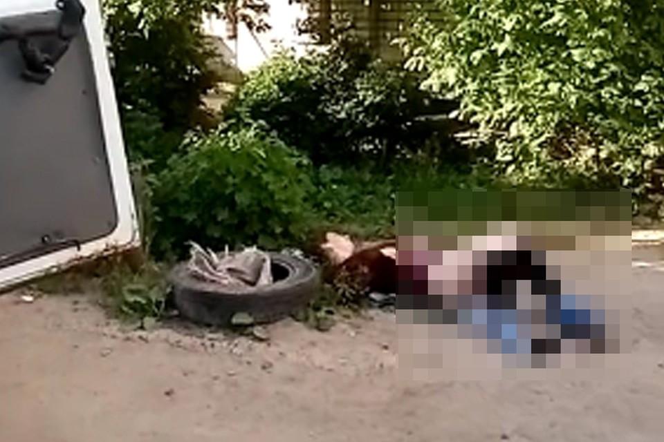 """Молодая женщина родила ребенка прямо у подъезда в Дзержинске. Фото: """"Подслушано Дзержинск"""""""