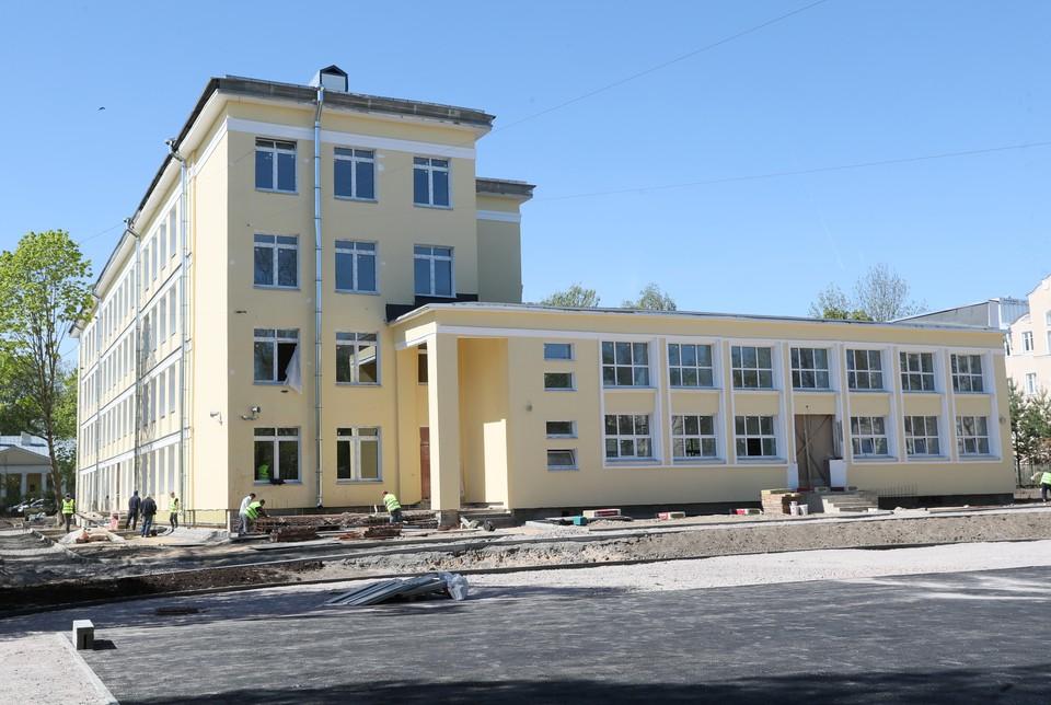 1 сентября гимназия сможет принять около 900 учеников. Фото: Администрация Санкт-Петербурга