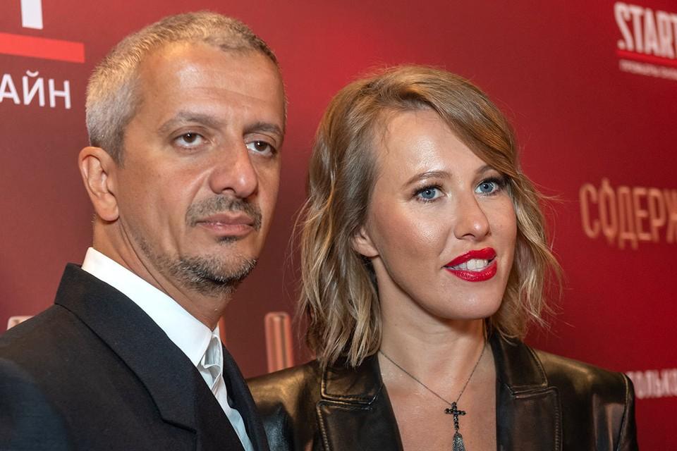 Режиссер Константин Богомолов и его супруга телеведущая Ксения Собчак.