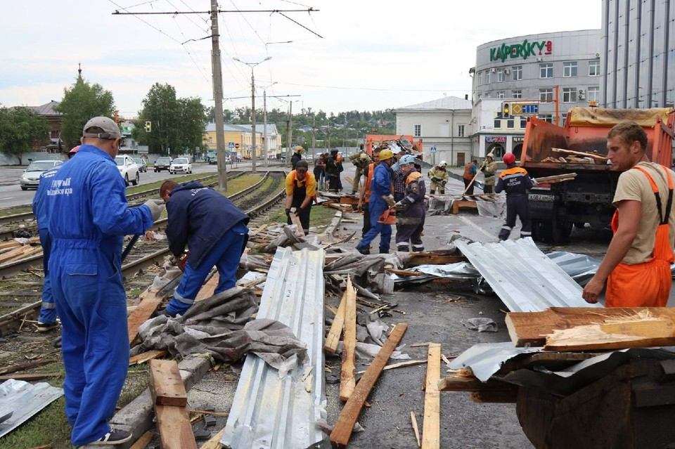 Последствия шторма в Барнауле. Фото: ГУ МЧС по Алтайскому краю