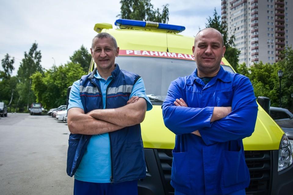 Врач Федор Емцов (слева) и фельдшер Дмитрий Гоношилин.