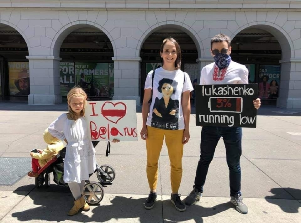 Сан-Франциско поддерживает белорусов Фото: Дарья Путейко