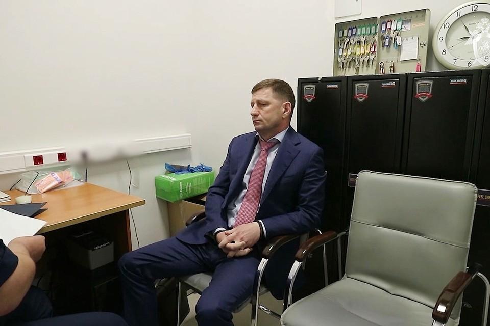 Задержанный губернатор Хабаровского края Сергей Фургал. Фото: Следственный комитет РФ/ТАСС