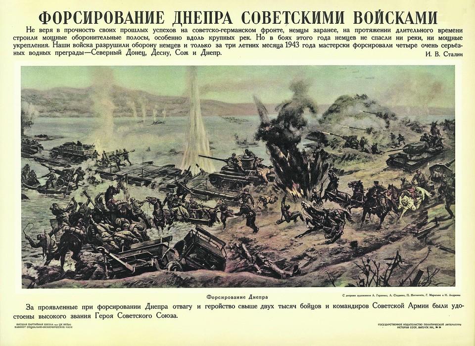 Диорама форсирования Днепра войсками Красной армии.