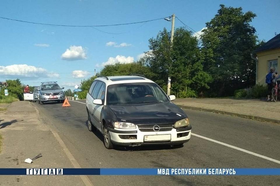 Водитель «Опель Омега» сбил девочку-велосипедистку. Фото: МВД.