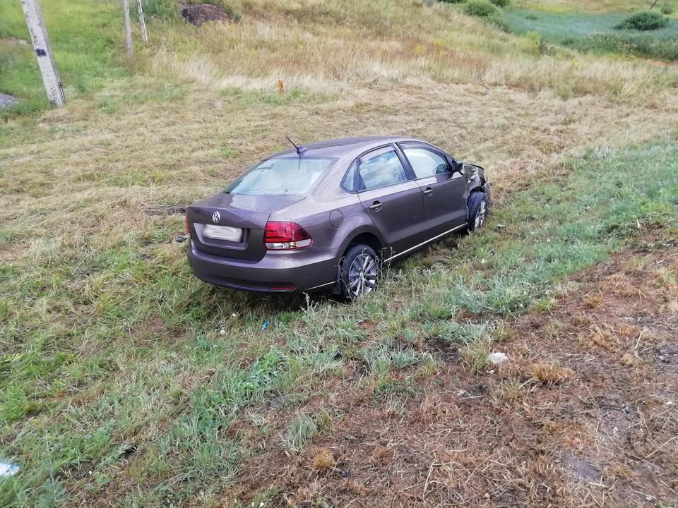 В аварии получили травмы два человека