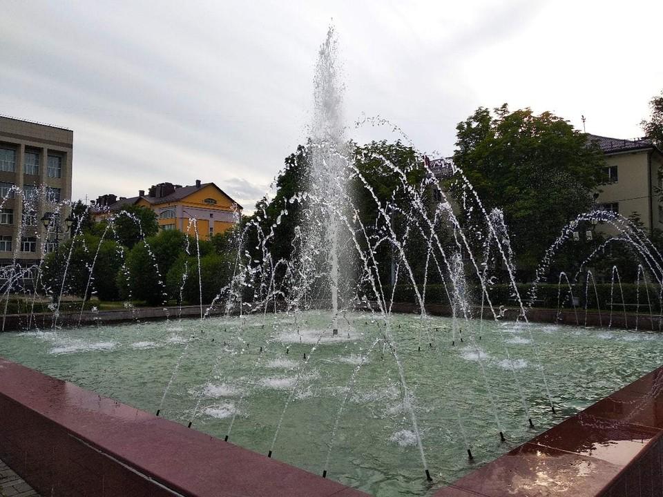 Два фонтана возобновили работу в Смоленске. Фото: администрация Смоленска.