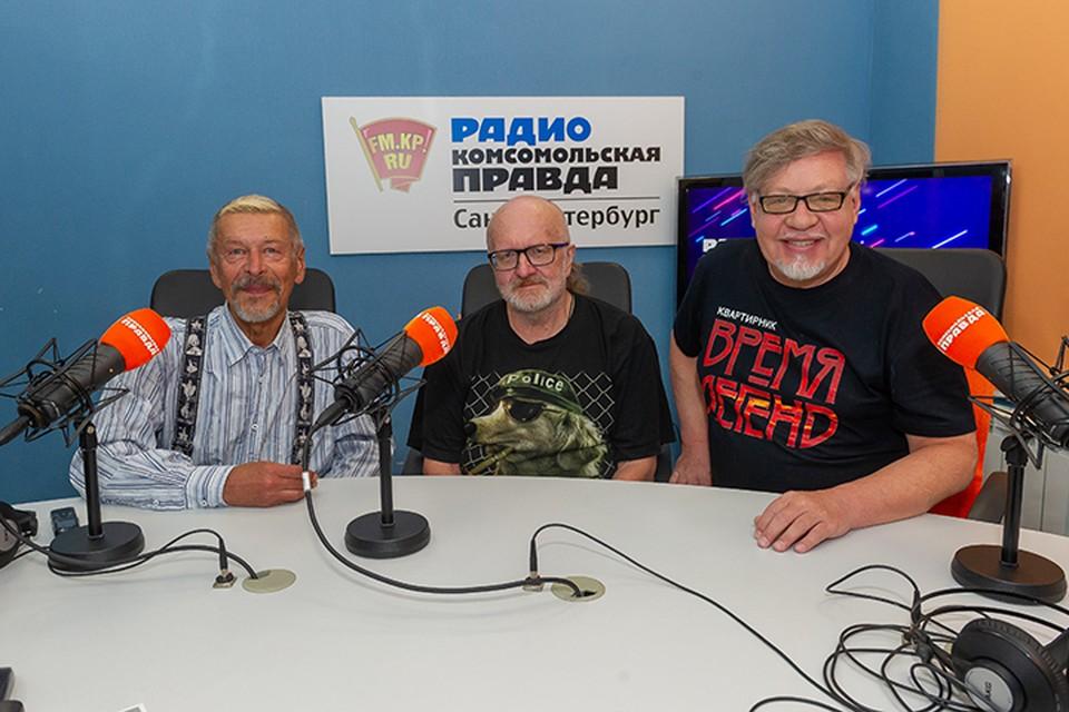 Александр Донских, Николай Гусев и Александр Семенов в студии радио «Комсомольская Правда в Петербурге», 92.0 FM