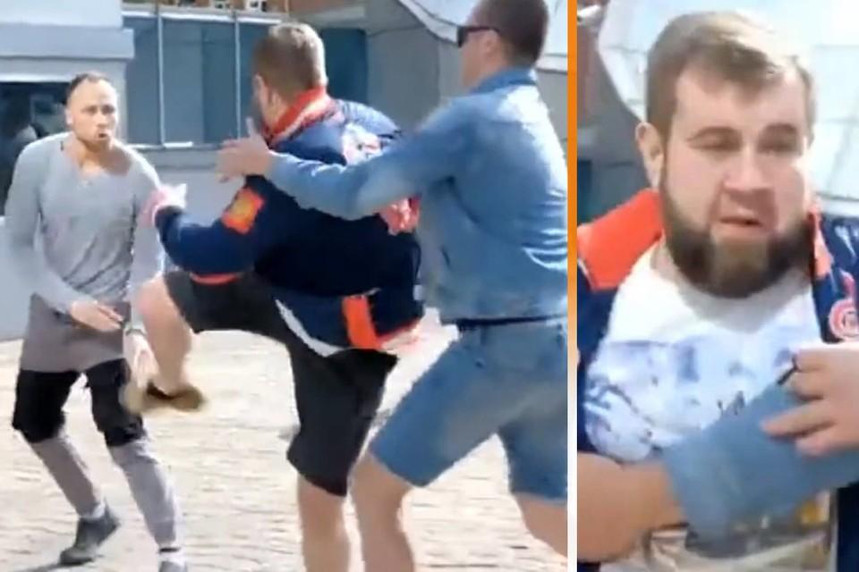 """Печально знаменитый Александр Орлов (""""Колобок"""") устроил драку перед камерами."""