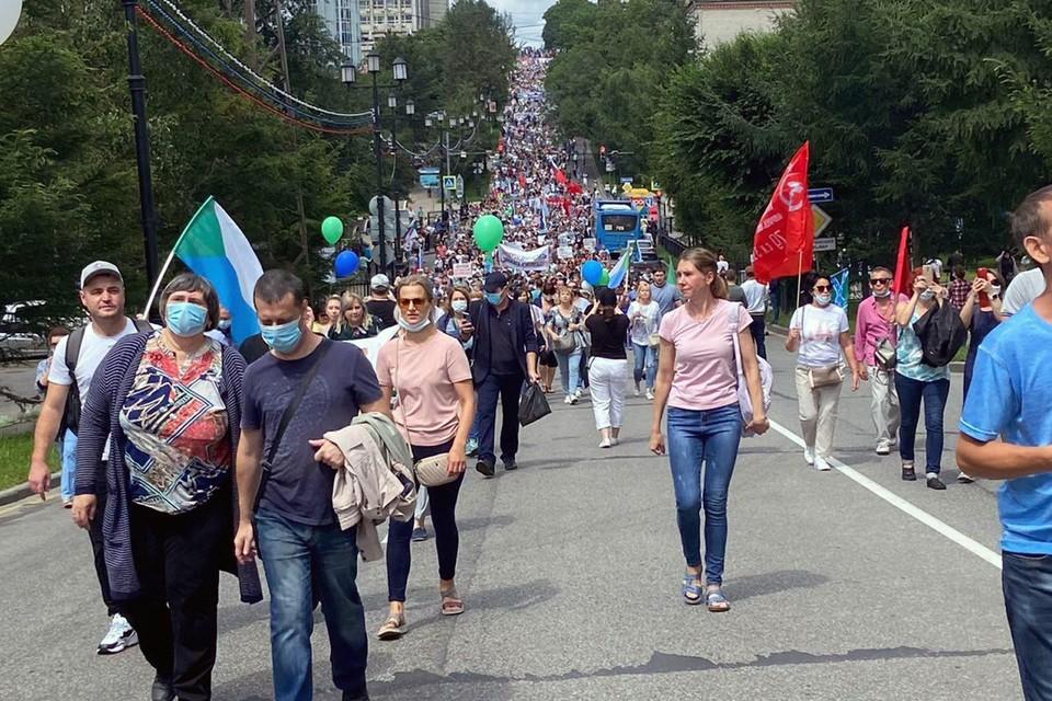 Пятая субботняя акция в Хабаровске