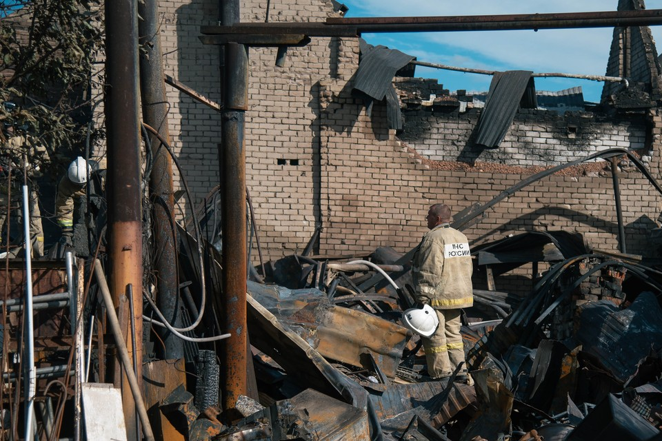 В доме № 23, где взорвался баллон, практически ничего не осталось