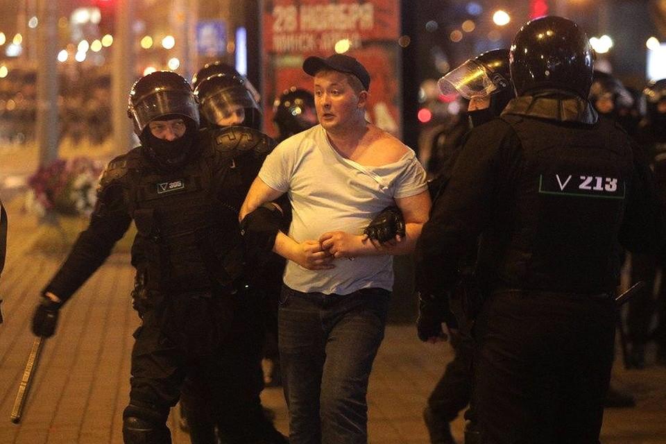 Задержания в Минске вечером 10 августа.