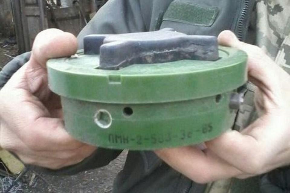 Советскую мину ПМН-2 до сих пор активно применяют украинские военные в Донбассе. Фото: Пресс-центр штаба ООС