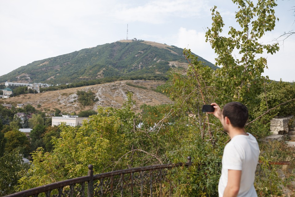 Вид на гору Машук