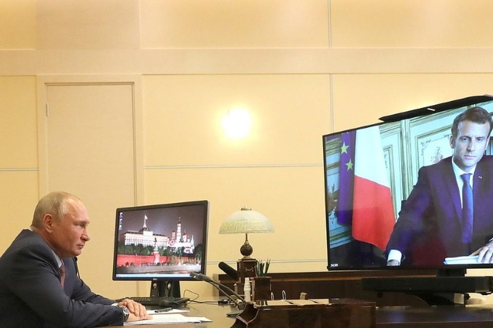 До этого Путин и Макрон общались в конце июня в режиме видеоконференции. Фото: kremlin.ru