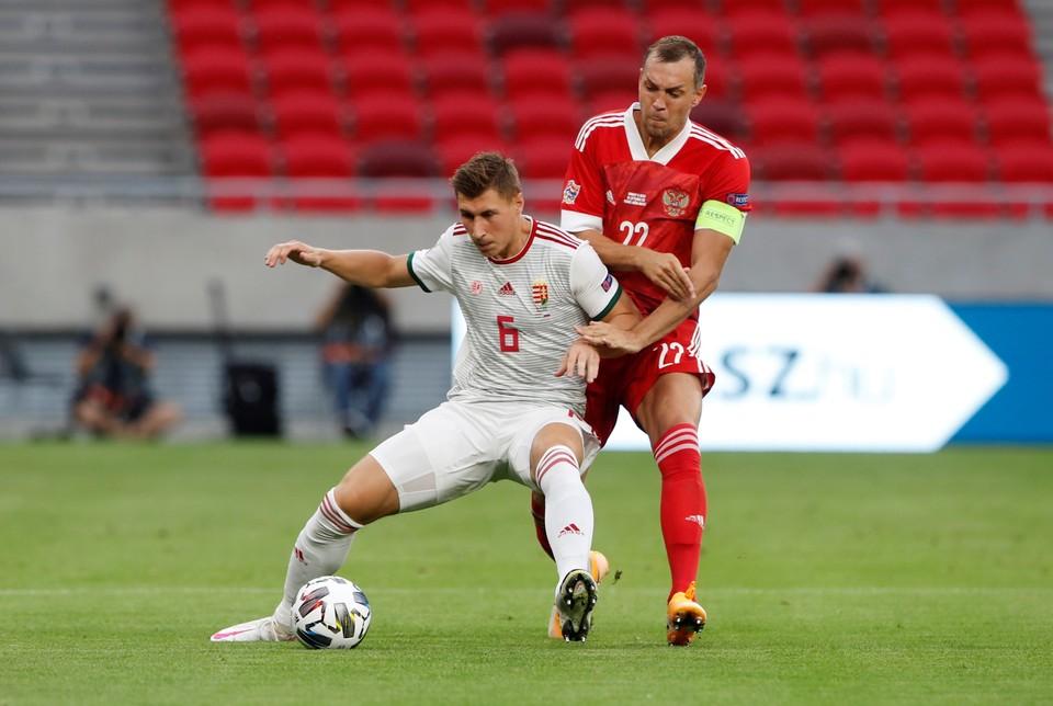 Россия забила в первом тайме сборной Венгрии.