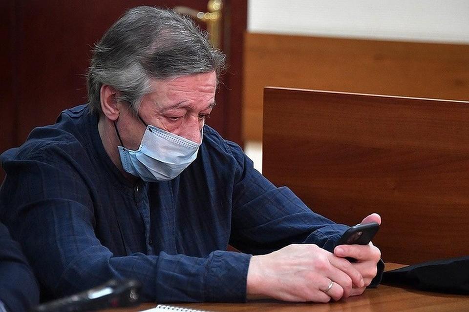 Михаил Ефремов в суде.