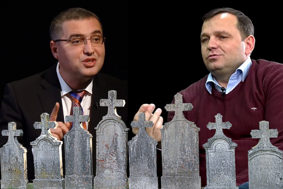 Ренато Усатый и Андрей Нэстасе с избирателями.