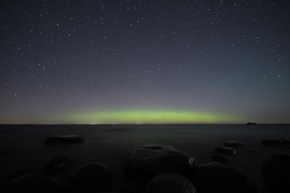 Первое северное сияние заметили в небе над Петербургом