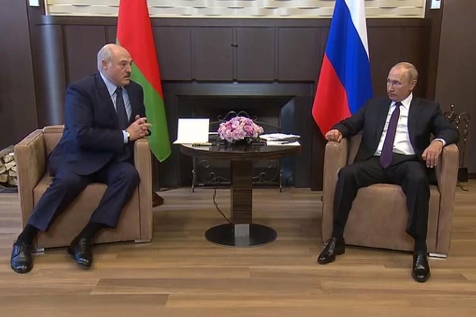 Встреча Путина и Лукашенко продлилась более четырех часов. Фото: стоп-кадр | видео пресс-служба Кремля.