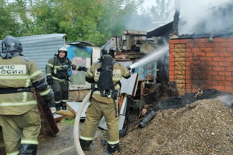 Площадь пожара оставила 205 квадратных метров.