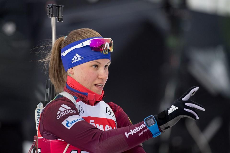 Биатлонистка сборной России 24-летняя Кристина Резцова сообщила, что она находится в положении. Фото: Сергей Бобылев/ТАСС