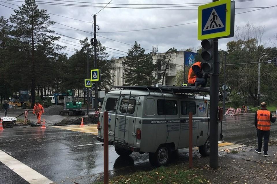 В Хабаровске привели в порядок самый опасный перекресток