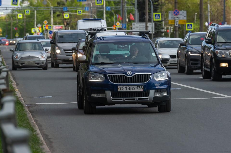 Петербург сковали 7-балльные пробки вечером 22 сентября