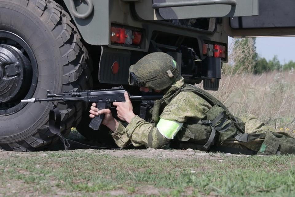 В Кузбассе мотострелки заминировали участок дороги. Фото: Пресс-служба Минобороны России