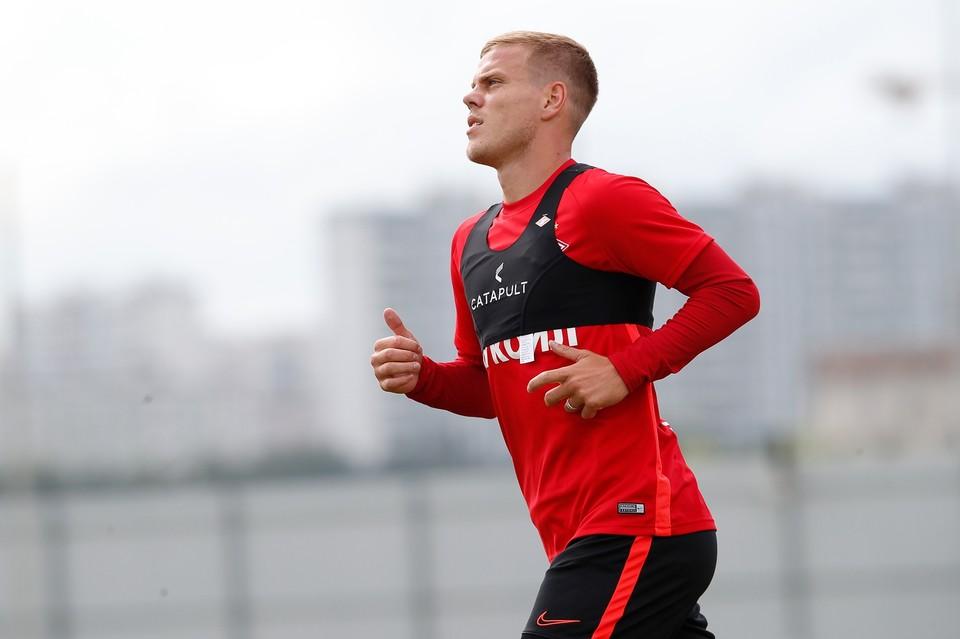 Кокорин перешел в «Спартак» этим летом, однако долго время не выходил на поле.
