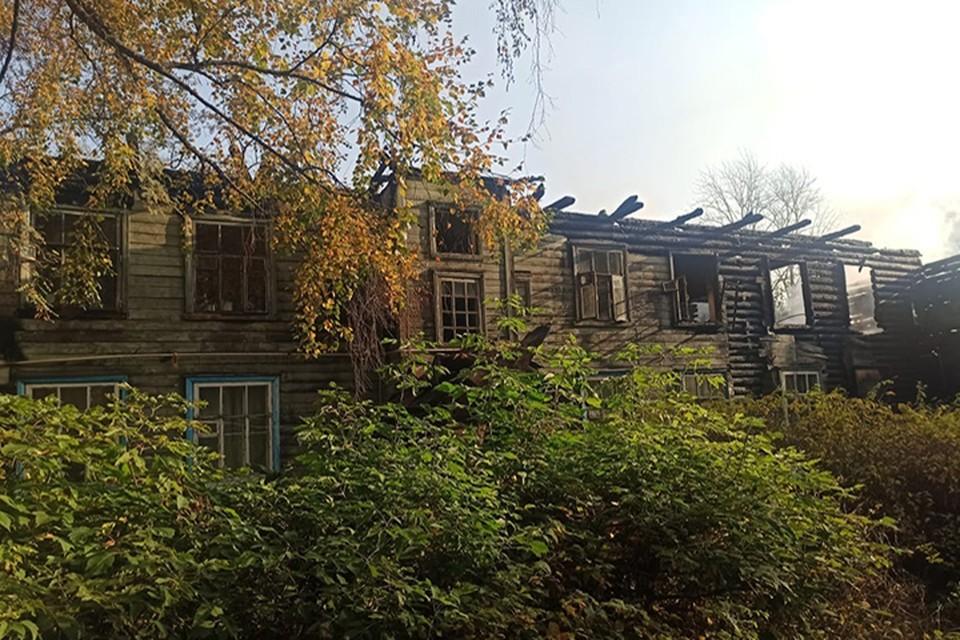 Жилой дом сгорел в Конакове, никто не пострадал Фото: ГУ МЧС России по Тверской области