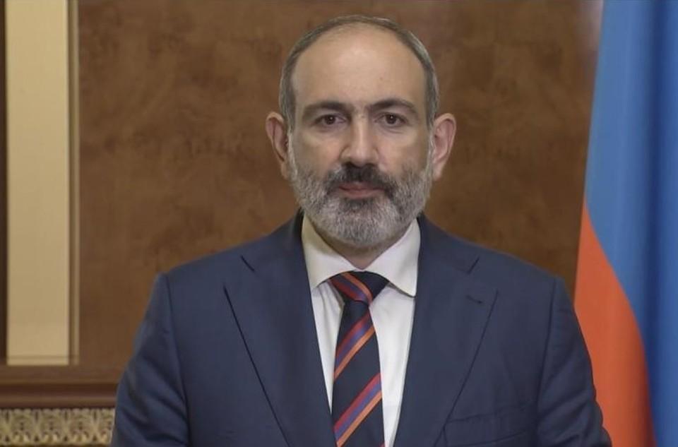 Премьер Армении считает, что конфликт в Карабахе может угрожать международной безопасности. Фото: кадр из видеотрансляции обращения к нации